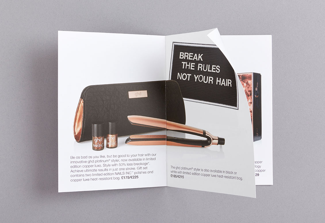 Ghd design print of seasonal advertising campaigns for Ghd design